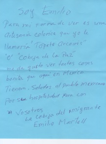 Entrega a migrantes en Centro Cultural Comunitario La Roca en 2018. Vínculo con Kilometro Migrante y Marabunta.