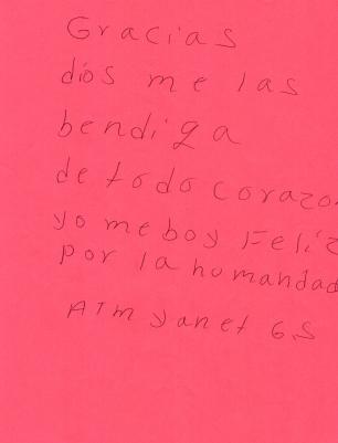 Entrega a madres mexicanas en busca de sus familiares desaparecidos. 2018
